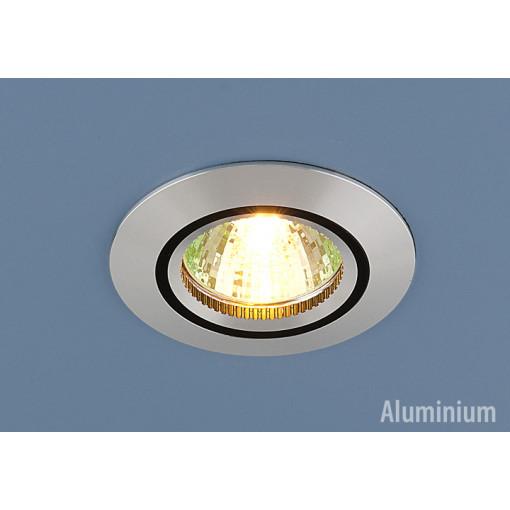Алюминиевый точечный светильник 5106 сатин. серебро/черный