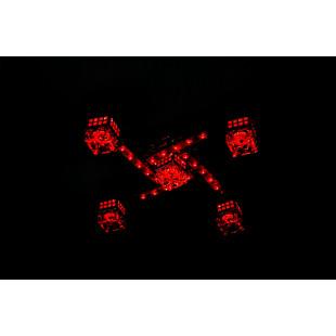 Люстра с подсветкой и пультом управления 4939/5 хром / синий + красный + фиолетовый