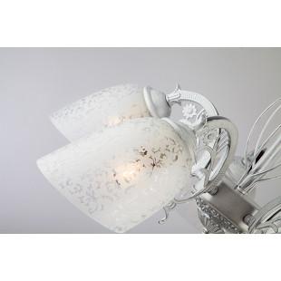 Потолочная люстра со стеклянными плафонами 70039/5 белый с серебром