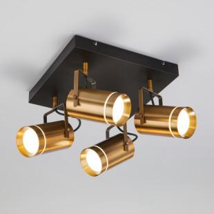 Светодиодный потолочный светильник с поворотными плафонами 20063/4 античная бронза