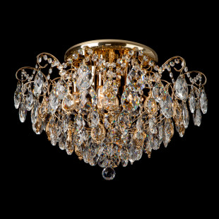 Потолочная люстра с хрусталем 10081/6 золото / прозрачный хрусталь