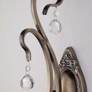 Бра с хрусталем 12505/1 античная бронза