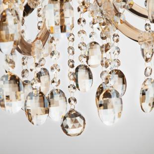 Люстра с тонированным хрусталем 3449/6 золото / тонированный хрусталь