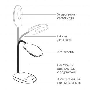 Настольная лампа сенсорная 90191/24 черный