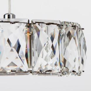 Светодиодный подвесной светильник с хрусталем 90048/1 хром