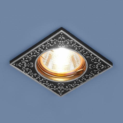 Точечный светильник 120071 MR16 BK/SL черный/серебро