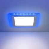 Встраиваемый потолочный светодиодный светильник DLS024 12+6W 4200K Blue