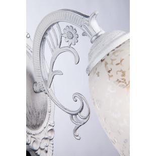 Бра в классическом стиле 70039/1 белый с серебром