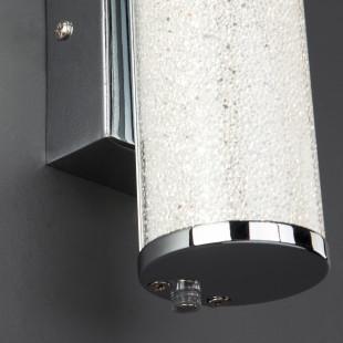Светодиодный настенный светильник с хрустальной крошкой 90060/1 хром