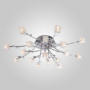 Потолочная люстра с подсветкой и пультом 80108/17 хром