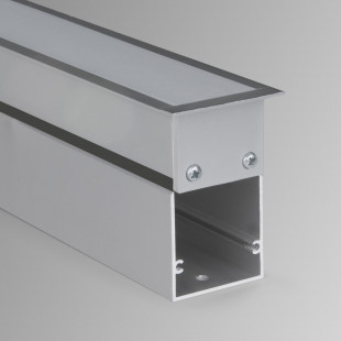 Линейный светодиодный встраиваемый светильник 128см 21Вт 6500К матовое серебро LS-03-128-21-6500-MS