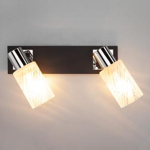 Настенный светильник 20020/2 хром/венге