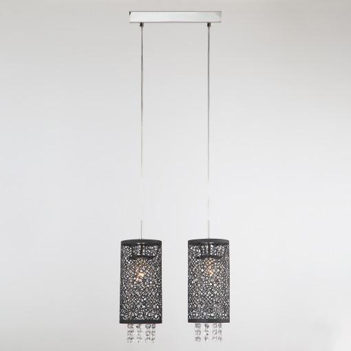 Подвесной светильник с хрусталем 1180/2 хром