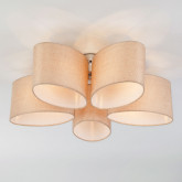 Потолочный светильник с абажурами 60083/5 хром