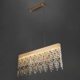 Светодиодный подвесной светильник с хрусталем 90110/1 медный