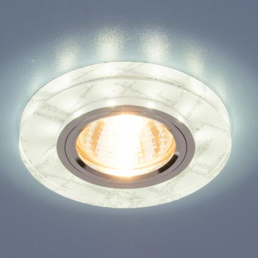 Точечный светильник светодиодный 8371 MR16 WH/SL белый/серебро