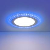 Встраиваемый потолочный светодиодный светильник DLR024 12+6W 4200K Blue