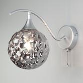 Бра со стеклянным плафоном 70102/1 серебро