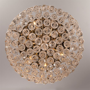 Люстра с хрусталем 3296/8 золото / прозрачный хрусталь
