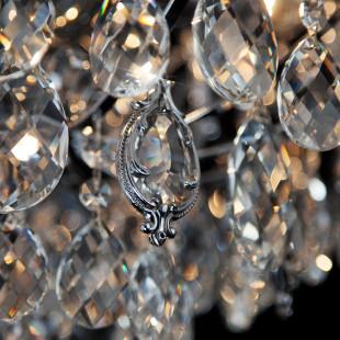 Подвесная люстра с хрусталем 10080/6 хром / прозрачный хрусталь