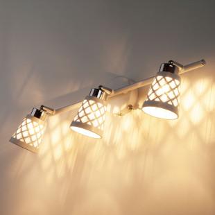 Настенный светильник с поворотными плафонами 20060/3 белый