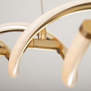 Светодиодный подвесной светильник 90074/1 патинированное золото