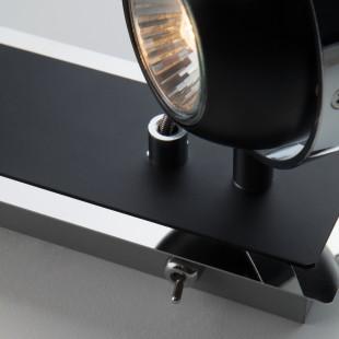 Настенный светильник с поворотными плафонами 20056/2 черный