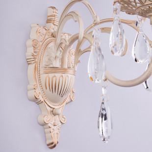 Бра с хрусталем 3637/1 белый с золотом / прозрачный хрусталь
