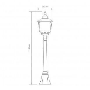 Sculptor F черное золото уличный светильник на столбе GLXT-1407F