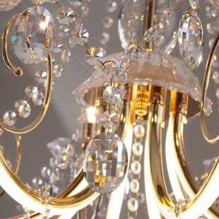 Люстра светодиодная с хрусталем и пультом 412/8 Strotskis