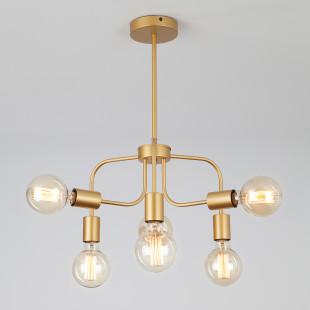 Подвесной светильник в стиле лофт 70058/6 золото