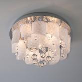 Потолочный светильник с хрусталем и пультом 80117/8 хром/белый