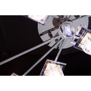 Люстра со светодиодной подсветкой и пультом 4803/8 хром / белый + синий + красный + фиолетовый