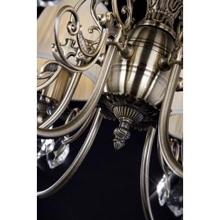 Люстра с хрусталем 10012/6 античная бронза