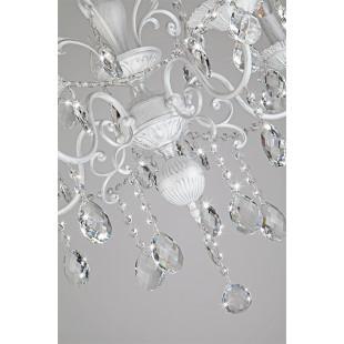 Люстра с хрусталем 10064/5 белый с серебром