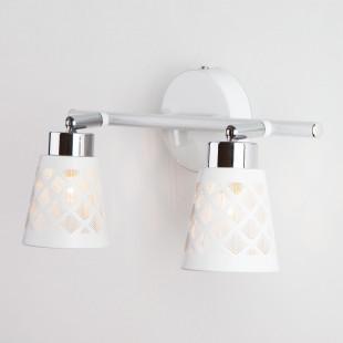 Настенный светильник с поворотными плафонами 20060/2 белый