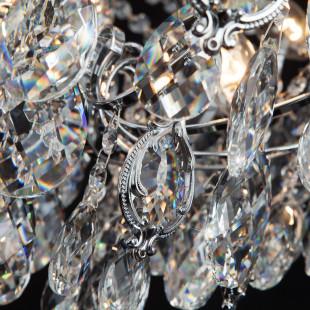 Подвесная люстра с хрусталем 10080/12 хром / прозрачный хрусталь