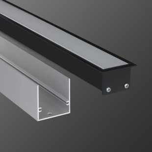 Линейный светодиодный встраиваемый светильник 128см 21Вт 4200К черный матовый LS-03-128-21-4200-MB