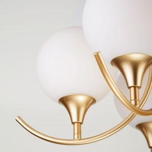 Потолочный светильник со стеклянными плафонами 70101/5 золото