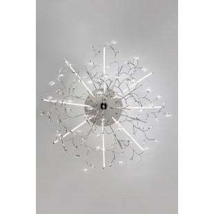 Светодиодная люстра с хрусталем 90036/8 хром