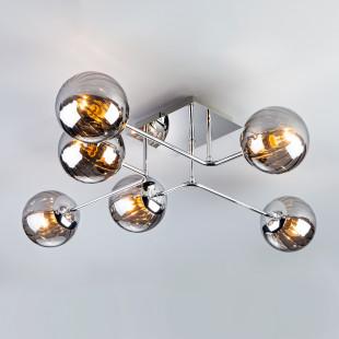 Потолочный светильник с круглыми стеклянными плафонами 30140/6 хром