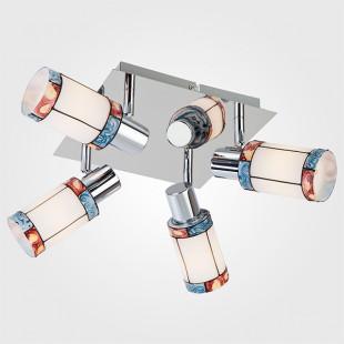 Потолочный светильник с поворотными плафонами 20054/4 хром