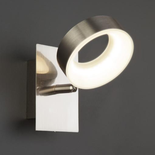 Светодиодный настенный светильник с поворотным плафоном 20065/1 сатин-никель