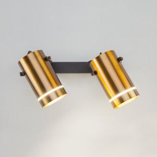 Светодиодный настенный светильник с поворотными плафонами 20063/2 античная бронза