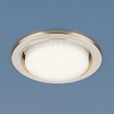 Точечный светильник 1036 GX53 WH/GD белый/золото