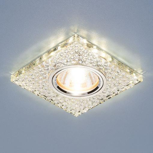 Встраиваемый потолочный светильник со светодиодной подсветкой 2150 MR16 SL зеркальный/серебро