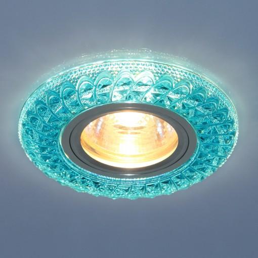 Встраиваемый потолочный светильник со светодиодной подсветкой 2180 MR16 BL синий