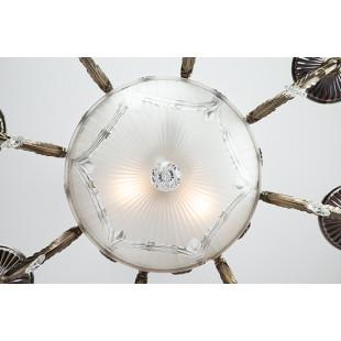 Люстра классическая с хрусталем 22585/8+3 античная бронза
