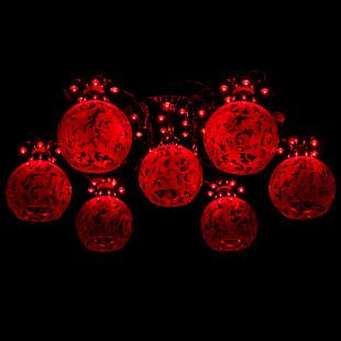 Люстра со светодиодной подсветкой и пультом ДУ 70206/7 хром / синий + красный + фиолетовый