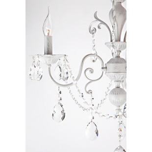 Люстра с хрусталем 10064/3 белый с серебром